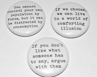 Noam Chomsky Button Badge 25mm / 1 inch
