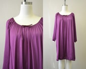 1970s Deep Purple Night Gown