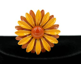 Daisy Hatpin in Fall Colors
