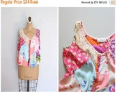 25% SPRING SALE Sacred Threads tank top - rayon patchwork fabric - India rayon top / hippie summer top - sleeveless blouse / festival shirt