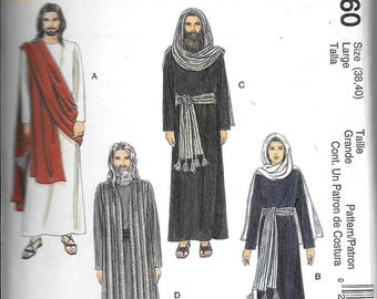 McCall's 2060 Adult Passion Play Easter Jesus Mary Christmas Nativity Costume Sewing PatternLarge 38, 40