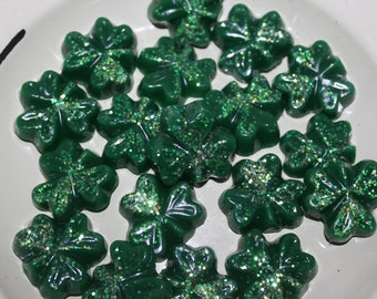 IRISH CREAM Scented or You Choose Scent Glitter Shamrock Wax Tarts Melts St Patrick's Day Bowl Fillers Decor