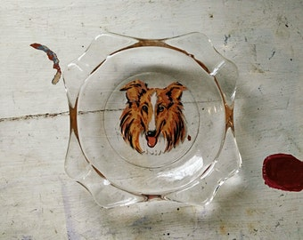 Vintage Collie Ashtray