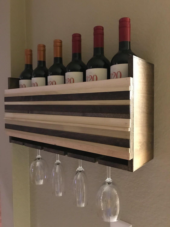 wall mounted wine glass rack wall mounted wine glass rack  - wall mounted wine rack holder wine glass holder gift wine rack wood wallart organizer wedding gift