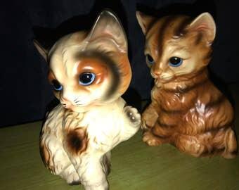 Vintage Kittens. Ceramic Kittens. Vintage Set of Ceramic Kittens