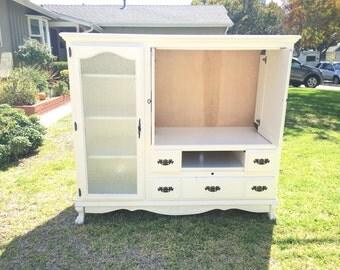 Vintage White Media / TV Cabinet