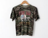 vintage Air Force t-shirt, camo Strike Eagle Air Tactical Command, army tee