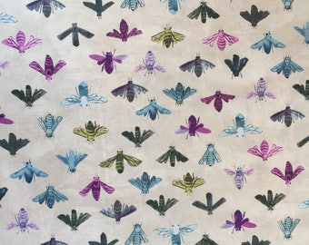 Save the Bees in Stone, Dreamer Collection by Carrie Bloomston for Windham Fabrics, 1/2 yd