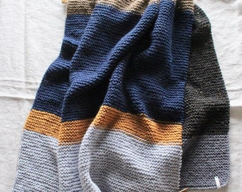 Hand-knitted scarf/wrap