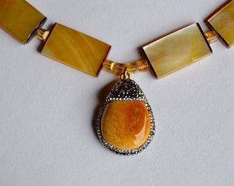 Shell and Agate Necklace