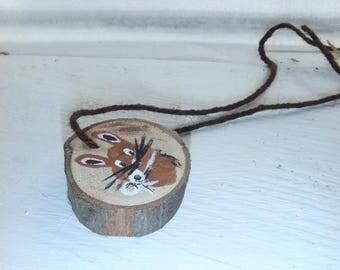 Bunny Rabbit necklace, natural, or ornament, great Easter gift!