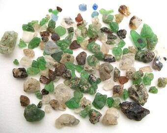 120 Pieces of Colorful Bonfire & Creek Glass