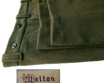 Vintage Rugged Melton Wool Pants from Wintermaster. Men's Vintage 1960s, 1970s Winter Slacks. Seriously Thick and Warm. Deadstock. 36 x 31