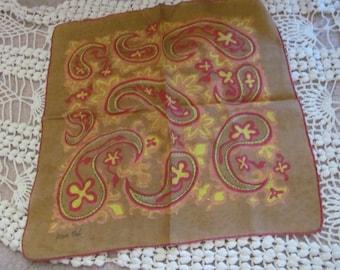 Dwaine Meek Hankie // Beautiful Brown Cotton Hankie Handkerchief - Signed Designer