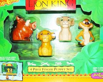 Disney Lion King Finger Puppet Set- New in Box