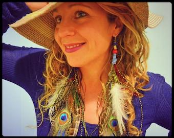 Boho Life Feather Bundle Earrings Free Shipping Coachella Festival Style