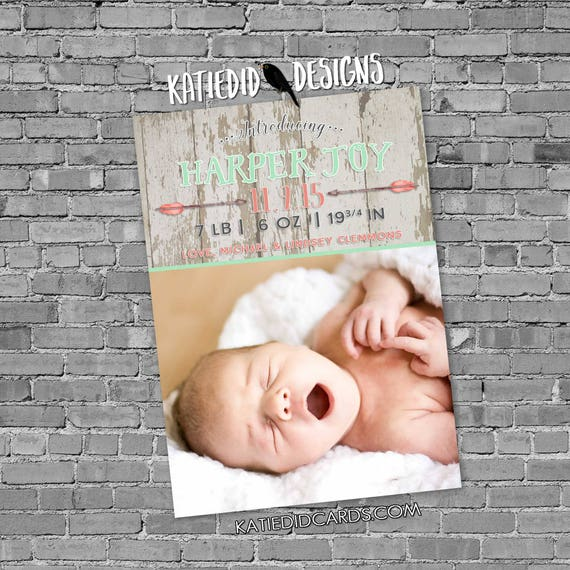 tribal birth announcement BOHO baby shower wedding arrows feathers wood gender neutral gender reveal item 430 1445 shabby chic invitations