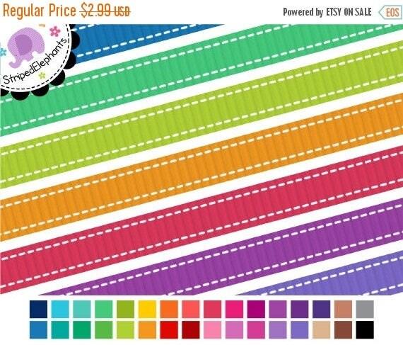 40% OFF SALE Stitched Digital Ribbons - Digital Border - Instant Download - Commercial Use