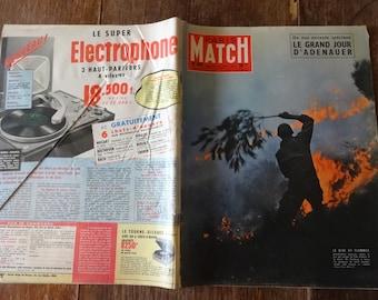 Vintage French Paris Match Magazine No 442 Le Grand Jour D'Adenauer Special circa 28 September 1957 / English Shop