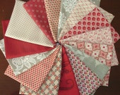 LAST ONE Madam Rouge, Josephine, Rue Indienne Rouge & Petite Fat Quarter Bundle of 15 by French General for Moda