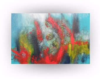 """painting, multicolor abstract painting ,abstract art, painting, acrylic painting, 36"""" x 24"""" Skye Taylor"""