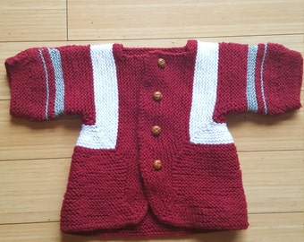 Vintage 60s sweater cardigan baby 12-18mo
