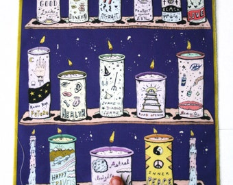 Ritual candles back patch art print