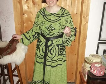 green Celtic long tunic