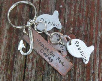 Fishing keychain for Dad-Best Catch Keychain-Christmas Gift Dad-Gift for Grampa-Daddy Keychain-Fisherman Gift-Personalized Keychain for Dad