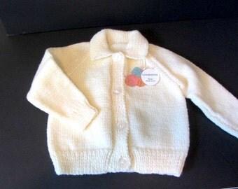 Hand Knit girls sweater, cream knit jacket, girls knit Sweater, girls knit Jacket, toddler knit sweater, cream knit sweater, girls cardigan