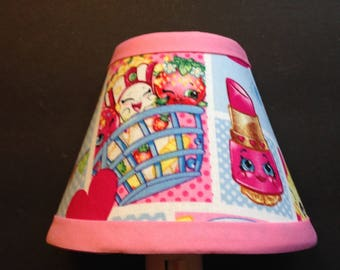 Shopkins Pink Fabric Children's Night Light