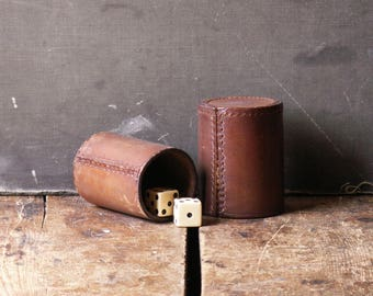 Vintage Leather Dice Cup - Great Guy Gift