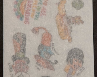 Beatles Yellow Submarine Rub-Ons No. 8