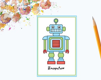 Robot Thank You Note Cards