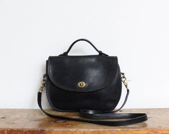Vintage Coach Purse // Coach Plaza Bag Black // Coach Crossbody Bag Handbag
