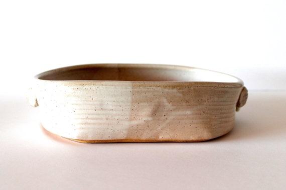 Ceramic Stoneware Baking : Pottery bakeware stoneware casserole handmade wheel thrown