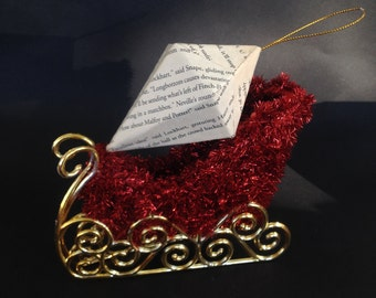 Harry Potter Book Page Ornament