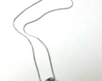 Diamond Pendant - Diamond Necklace - Cubic Zirconia Charm Necklace