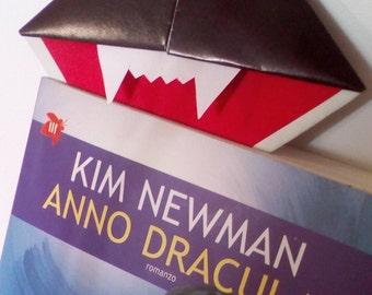 Dracula origami bookmark