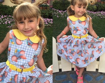 Disneybound Dumbo Dress - Dumbo Dress, Star Wars Dress, Bambi Dress, Alice in Wonderland Dress ... Rockabilly Kid, Pinup Dress, VLV