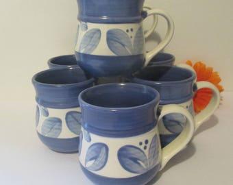 Pfaltzgraff Villa Flora Coffee Mugs Mexico Set of 7