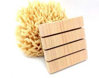101 SQUARE Cedar Natural Wood Spa Soap Dish 3.5 x3.5 custom sizing available Bulk Pricing - No Discount codes, please.