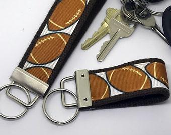 Key Keeper Keychain -  Football Key FOB / KeyChain / Wristlet - Key Keeper Keychain  -thumb or Wrist
