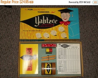 ETSYONSALE vintage Yahtzee game 1956, dice game, vintage game, vintage Yahtzee,
