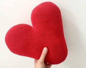 Crochet XL Heart Cushion - PDF pattern