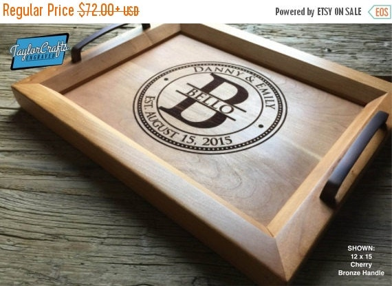 Love Personalized Sale - Personalized Wood Tray, Engraved Serving Tray - Wedding Gift, Housewarming Gift, Anniversary Gift