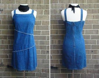 90s Americana Summer Dress / Vintage / Size L-XL