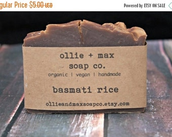 ON SALE Basmati Rice  Vegan Soap, Organic Soap, Handmade Soap, Cold Processed Soap
