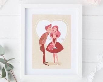 8.5x11 2017 Valentine's Day Print-Roses
