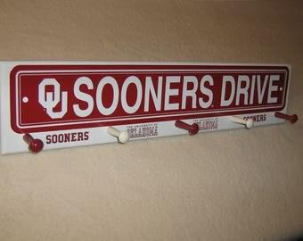 "Oklahoma Sooners coat rack ""hangup"""